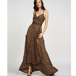 Hutch Farah Maxi Wrap Animal Print Dress